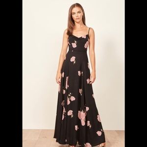 Reformation Thistle Maxi Floral Dress. Size 4p New